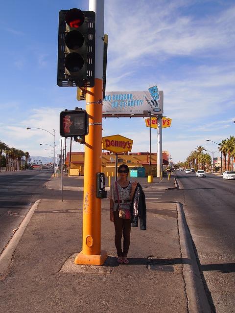ストリップ通りの信号機