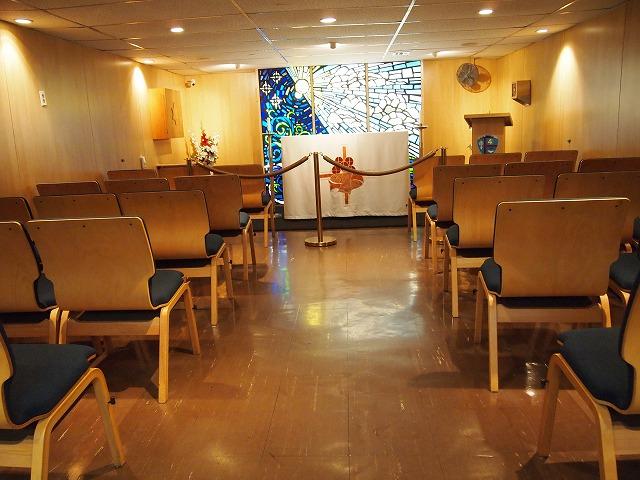 空母内の教会