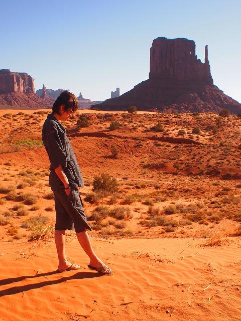 ナバホ族の聖地を散歩