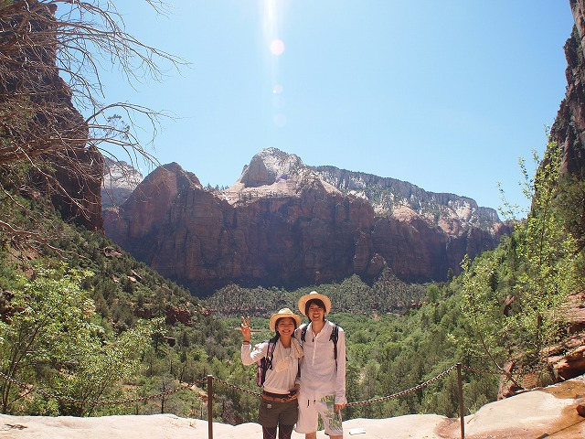 国立公園で記念撮影
