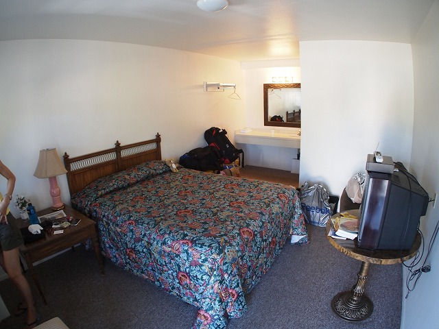 モーテルの部屋