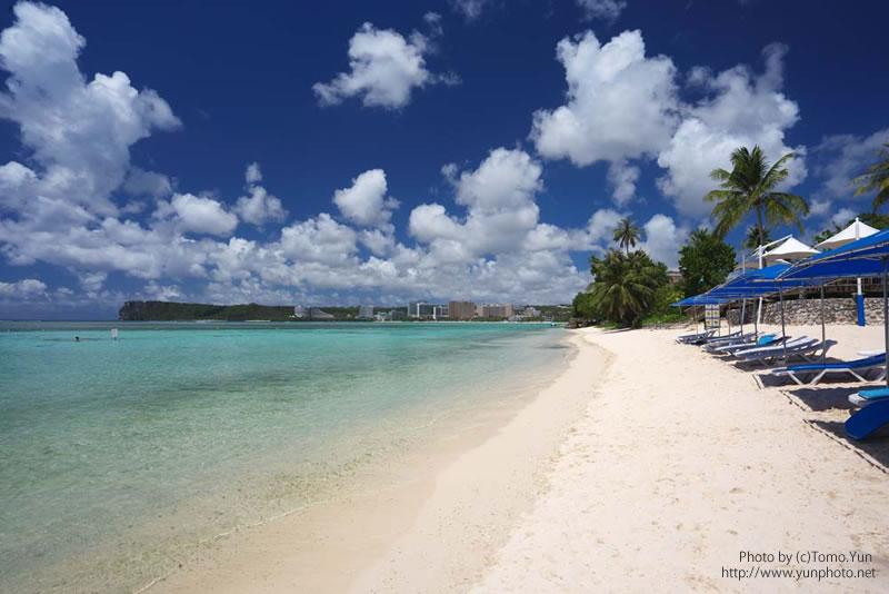 グアムの晴れたビーチ写真