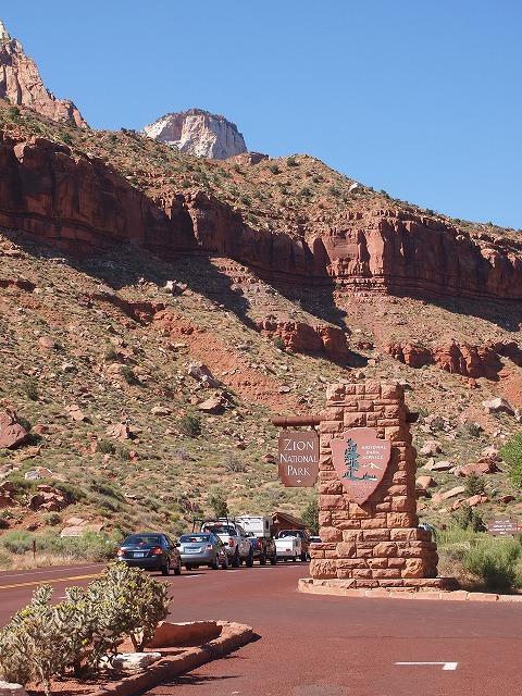 国立公園をドライブ
