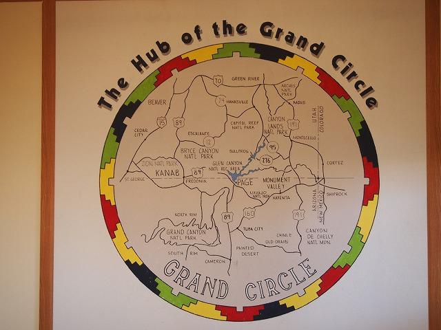 グランドサークルの全体地図