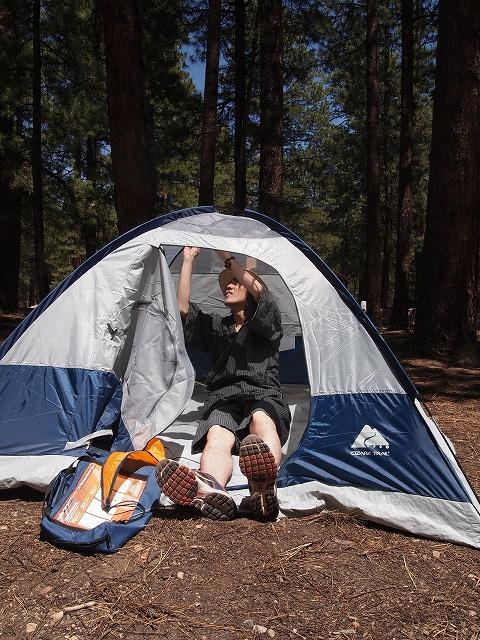 テント準備