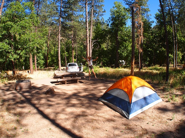 セドナのキャンプサイト