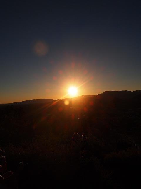 エアポート・メサからの夕日