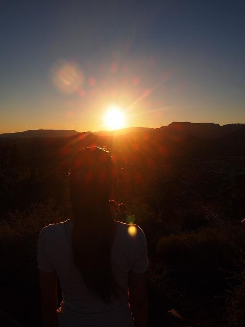 セドナに沈む夕日