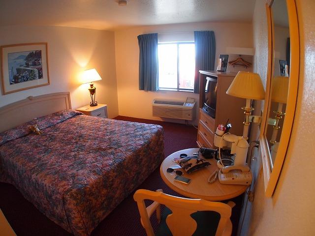 モーテルの部屋の写真
