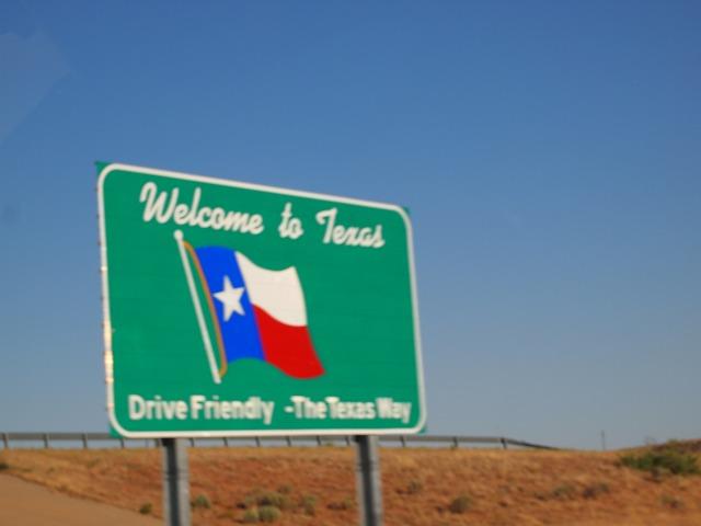 ウェルカム・トゥ・テキサスの看板
