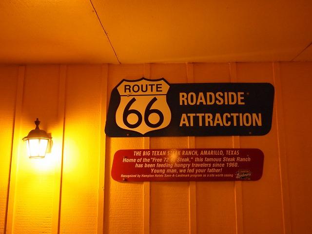 ルート66のアトラクション標識